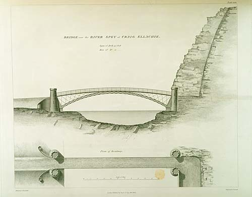ephemera - Craigellachie Bridge Illustration 1838