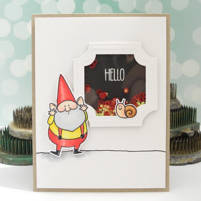 Hello Gnome by Jennifer Ingle #gnomes #mftstamps #spellbinders #cardmaking #Diy #spectrumnoir
