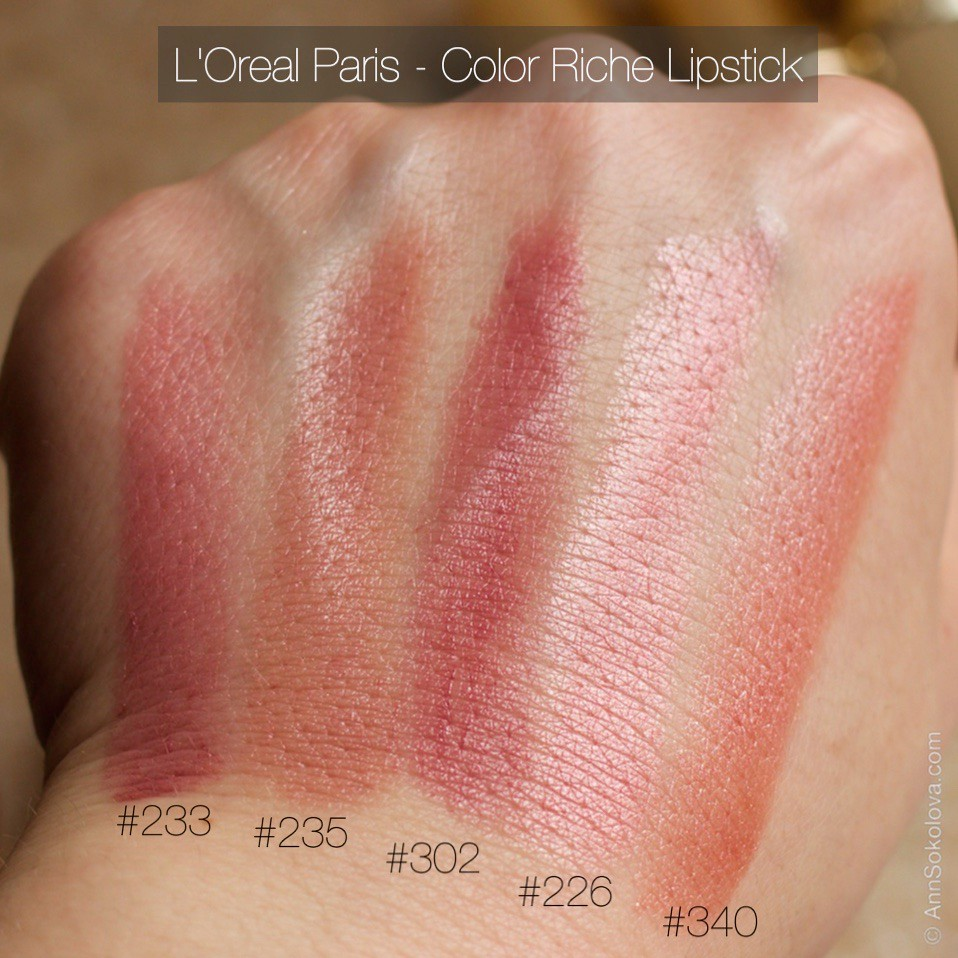 L Or 233 Al Paris Color Riche Lipstick 30 Shades Swatches