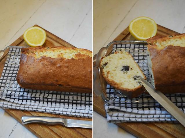Lemon and raisins gluten free cake recipe