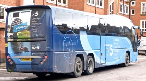 YX64 WCL 'Stagecoach East' 54314 Volvo B11R / Plaxton Elite 14m. on Dennis Basford's 'railsroadsrunways.blogspot.co.uk