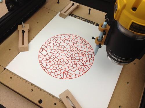 X-Carve - Pen on Foam Core