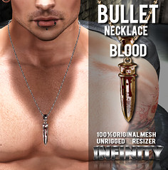 !NFINITY Bullet Necklace - Blood