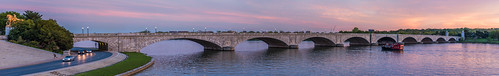 A DC Sunset on the Potomac River (Panorama) by Geoff Livingston