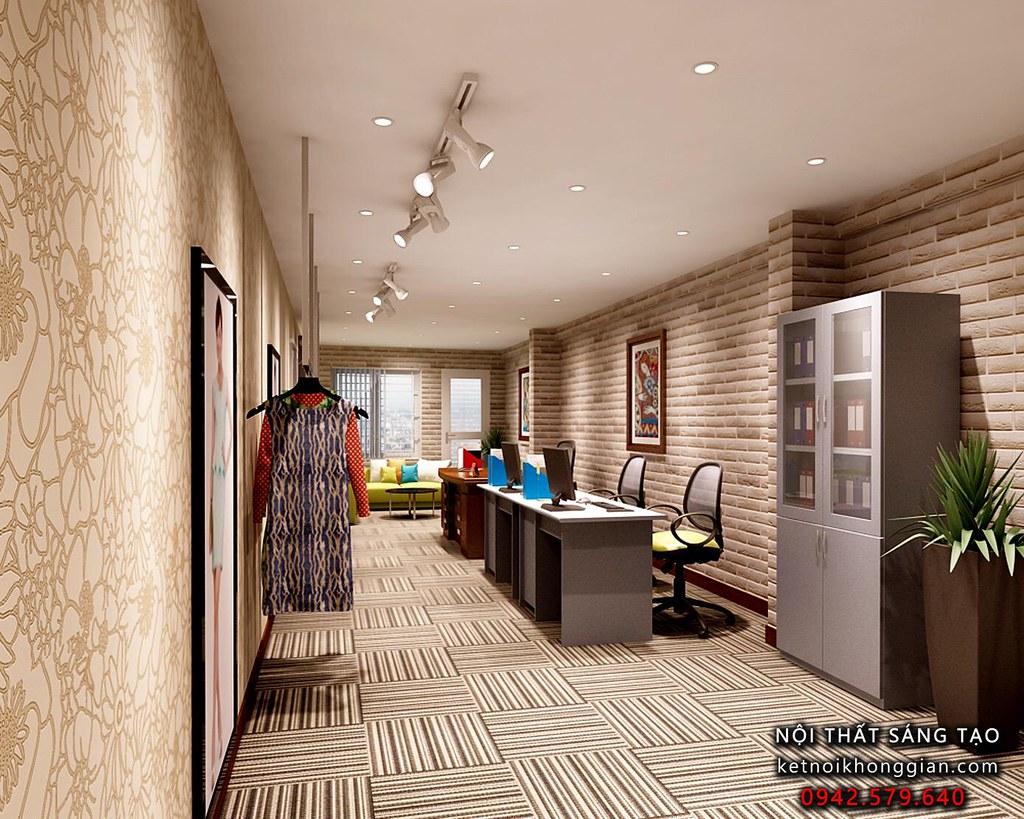 Thiết kế văn phòng công ty thời trang công sở Evy 1