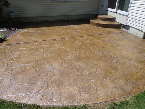 Restained Stamped Concrete | by Decorative Concrete Kingdom