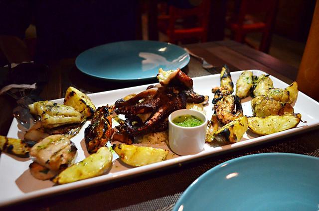 Mixed seafood grill, Casa Cafe Mindelo, Mindelo, Sao Vicente, Cape Verde