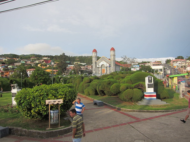 A view of Zarcero from the bus to Los Chiles