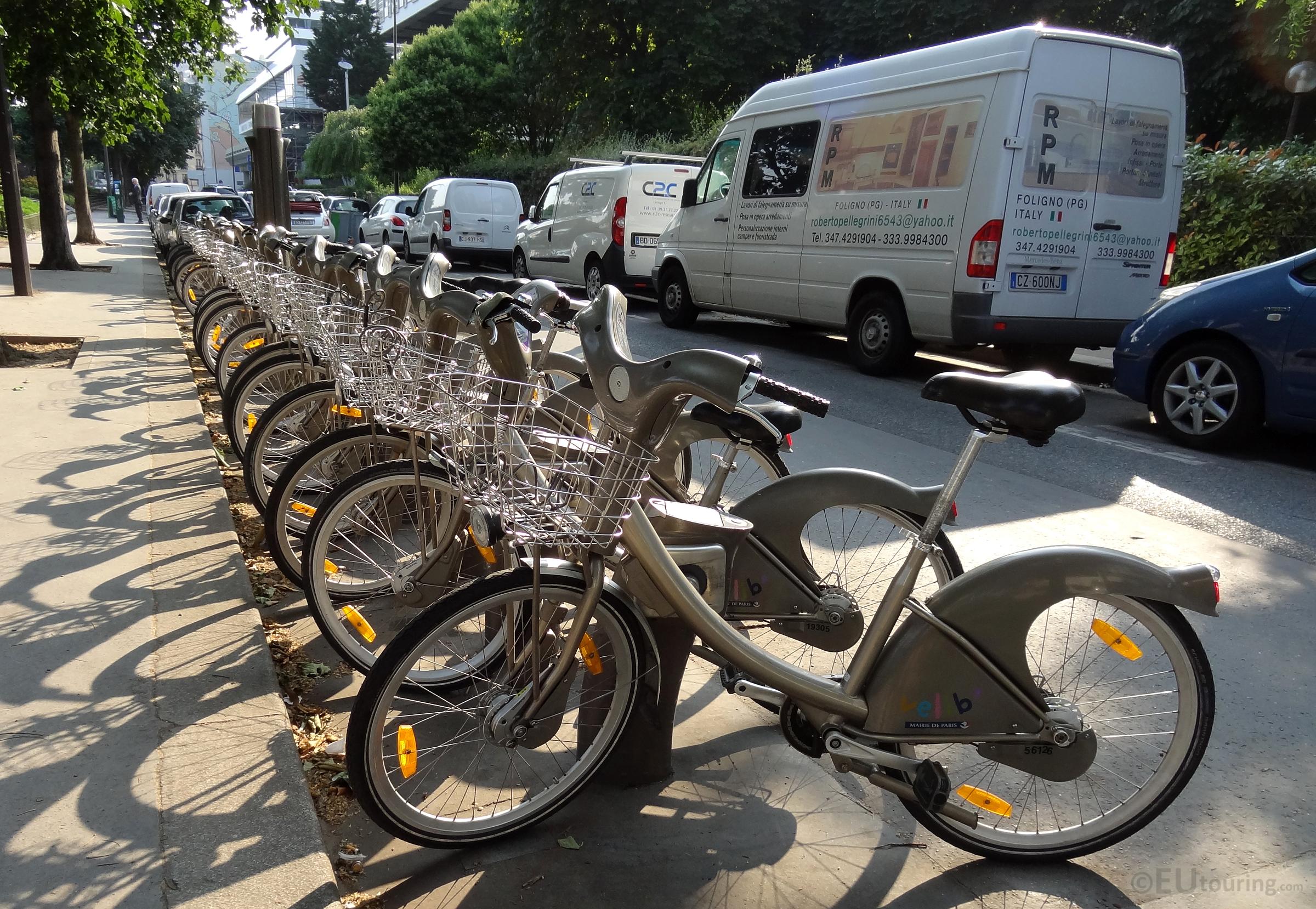 Collection of Velib bikes