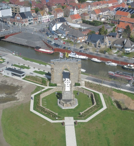 The Pax Gate, as seen from the topmost floor of the IJzertoren.