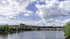 Prague Castle and Charles Bridge Sunny
