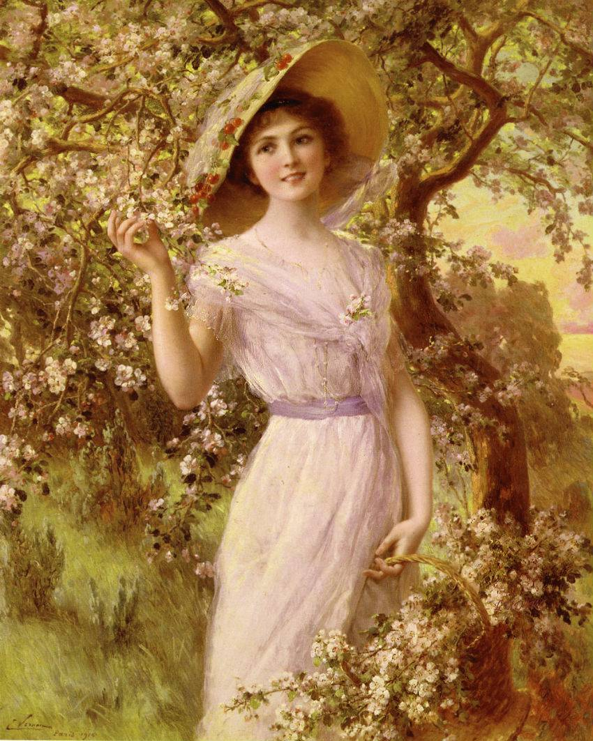 Cherry Blossom by Emile Vernon, 1916