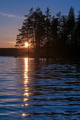 sunset nature norway hedmark øyungen eidskog