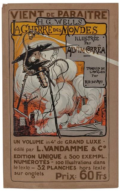 008-Cartel promocional-La Guerre des Mondes illustreè par Alvim Corrêa-1906- Heritage Auctions