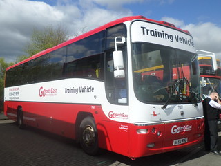 7087 NA52 RMZ Go North East Driver Training Plaxton Paragon at MetroCentre Bus Rally