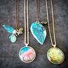 The beginning of trinkets. #arttowear #pendants #magicstones #tanisalexisart