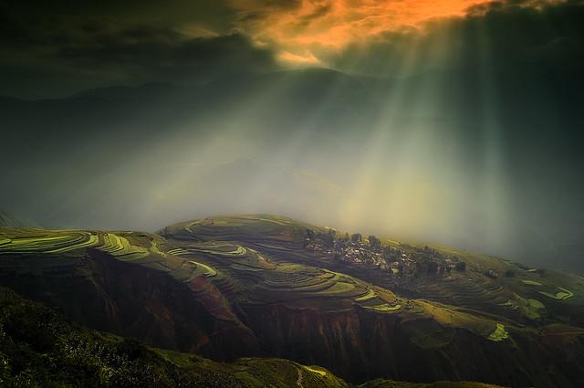 Sunlight in Dongchuan-Kunming