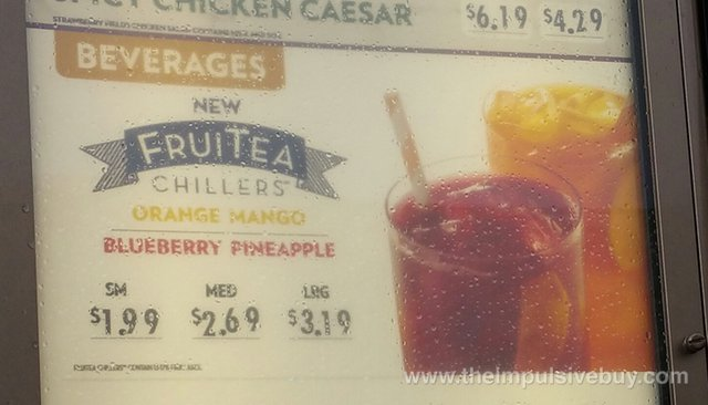 FAST FOOD NEWS: Wendy's Orange Mango and Blueberry Pineapple FruiTea