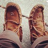 Purchased: moccasins from a dude on the street.