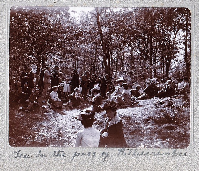 Tea in the Pass of Killiecrankie Perth Scotland 1903