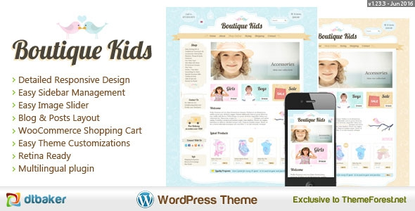 Boutique Kids Creative v1.23.2 - WordPress WooCommerce