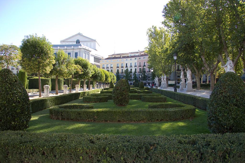 Jardines de Sabatini in Madrid