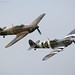 RAF BBMF Spitfire and Hurricane by NJ-P