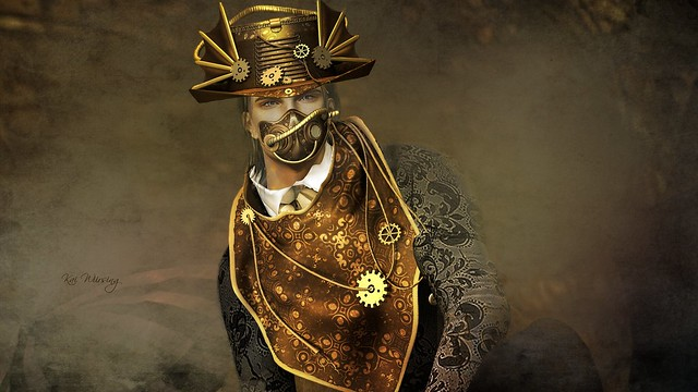 Astralia: Rowena Steam set ( hat, mask, scarf ) @The Chapter Four