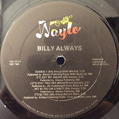 BILLY ALWAYS:BILLY ALWAYS(LABEL SIDE-B)