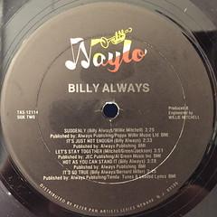 BILLY ALWAYS:BILLY ALWAYS(LABEL SIDE-B)