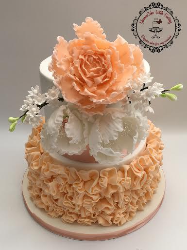 Beautiful Floral Cake by Marzena Anna Romanik - Cwik, YummCake With Fantasy
