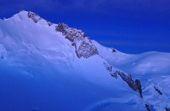 Besteigung Montblanc, 4810 m, Morgendämmerung am Mont Maudit. Foto: Günther Härter.