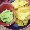 Guacamole in the sunshine earlier today with @meganfreeland, just cause we could.