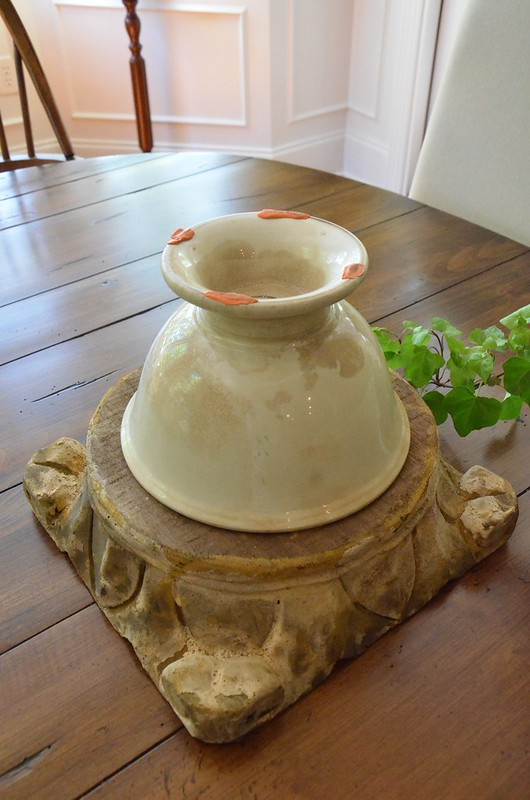 Ironstone Bowl/Pedestal-Housepitality Designs