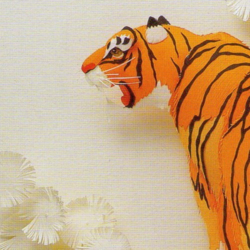 Paper Sculpture Tiger by Ching-Fang Wu
