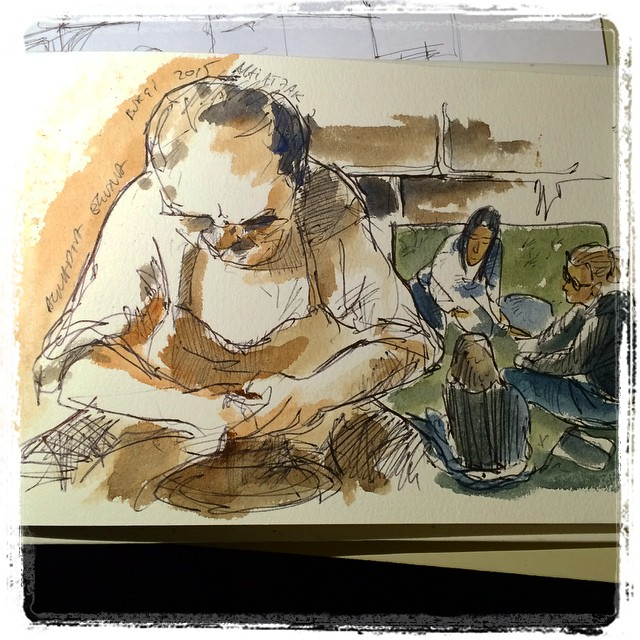 #urbansketch #burgi #bic #watercolor
