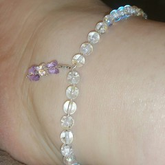 Made myself a simple anklet! I love how it turned out!
