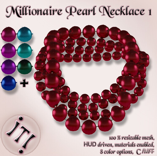 !IT! - Millionaire Pearls Necklace 1 Image