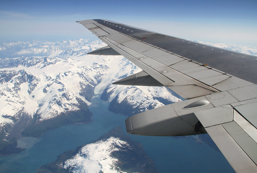 Clear view of Alaska's breathtaking coastline enroute from Anchorage ANC to Seatlle SEA. Aircraft delivered 09/1992.