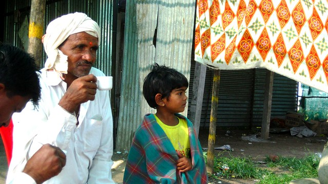 Uncle sipping Chai
