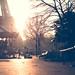 Sunset near Eiffel Tower by achargros