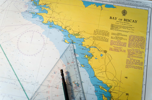 Nautical chart: France & Bay of Biscay