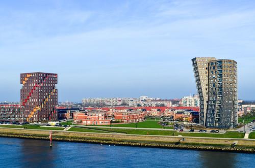 Buildings of Maassluis, near Rotterdam