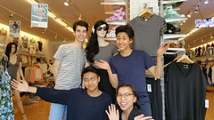 Evan, Nico, Paris and Tenzin at American Apparel