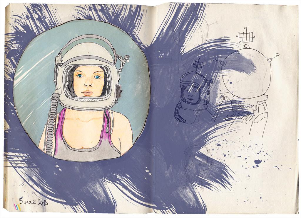Space Girl Tata Biserova Flickr
