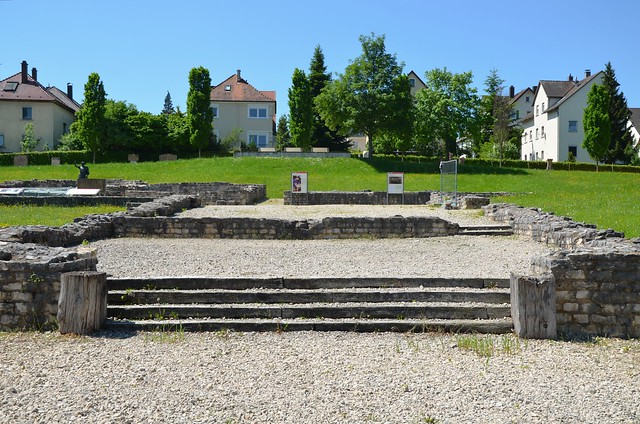 Kastell Aalen, the largest cavalry fort (castellum) along the limes occupied by the Ala II Flavia Miliaria Pia Fidelis, Raetian Limes, Germany