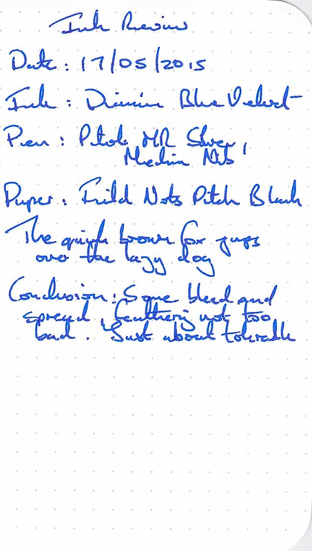 Diamine 150th Anniversary Blue Velvet - Field Notes