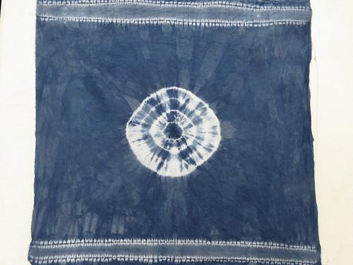 Sewn shibori plus indigo