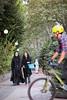Pedestrians and cyclist in Tehran by damonlynch