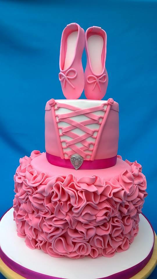 Ballerina-Ballet Shoe Cake by Shushma Leidig of SK Cakes